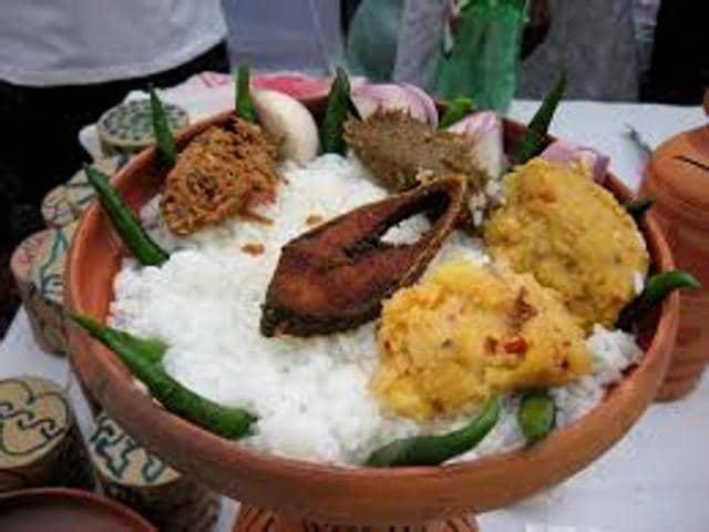 Benfish,rice fish thali,fish curry