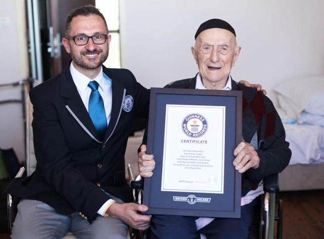 oldest man,israel kristal,bar mitzvah