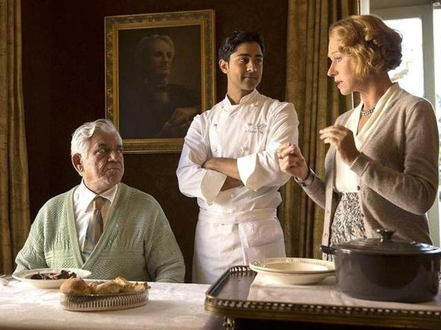 Om Puri in a still from Hollywood film The Hundred Foot Journey.