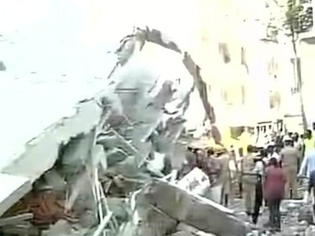 A five-storey building collapsed in Bengaluru.