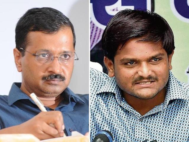 AAP national convener Arvind Kejriwal and Patidar agitation leader Hardik Patel found common ground in their criticism of Prime Minister Narendra Modi.