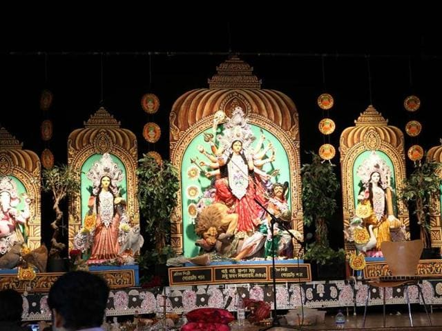 The Durga puja in Tokyo is a one-day event.