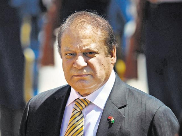 File photo of Pakistani Prime Minister Nawaz Sharif. The Pak PM called Hizbul militant Burhan Wani a 'son of the Kashmiri soil' in a joint session of Parliament on Oct 5, 2016.