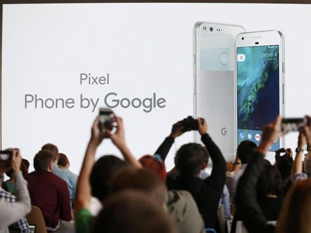 Rick Osterloh, SVP Hardware at Google, introduces the Pixel Phone by Google during the presentation of new Google hardware in San Francisco, California, US.