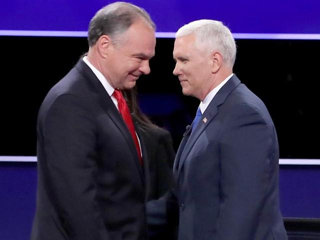 US presidential elections,vice presidential debate,Tim Kaine