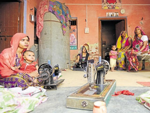 Family members of one of the accused person in Dadri lynching case at their house in Dadri, Greater Noida.