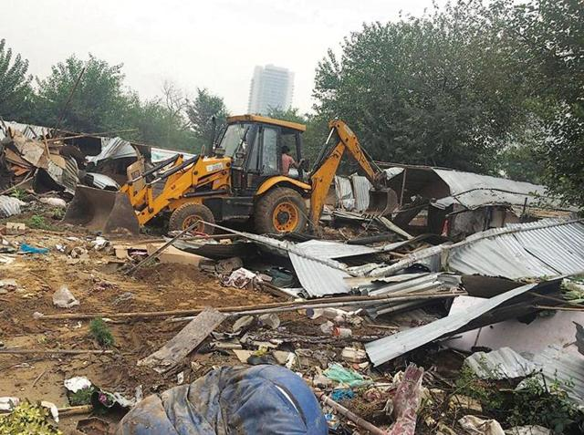 MCG demolished 800 structures built near the stormwater drain and cleared more than eight acres of land during the drive