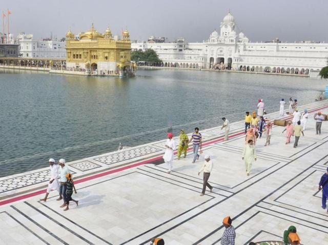 Decline in the number of devotees can be witnessed at Golden Temple after tension gripped areas along India-Pak border.
