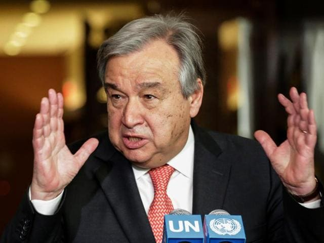 File photo of  Antonio Guterres. The UN Security Council on October 6, 2016 unanimously backed  Guterres, the former prime minister of Portugal who was the UN's refugee chief for a decade, to be the next secretary-general.