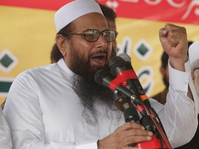 File photo of Hafiz Saeed, co-founder of LeT. Pakistani politicians have questioned their government why nothing was being done to rein in Saeed.