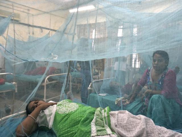 New Delhi, India - Sept. 21, 2016: Dengue and Chikungunya ward at Aruna Asaf Ali Hospital in New Delhi, India, on Wednesday, September 21, 2016. (Photo by Saumya Khandelwal/ Hindustan Times)