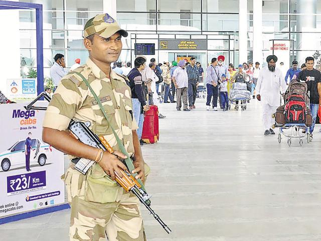 airports on high alert,Central Industrial Security Force,Indo-Pak tensions
