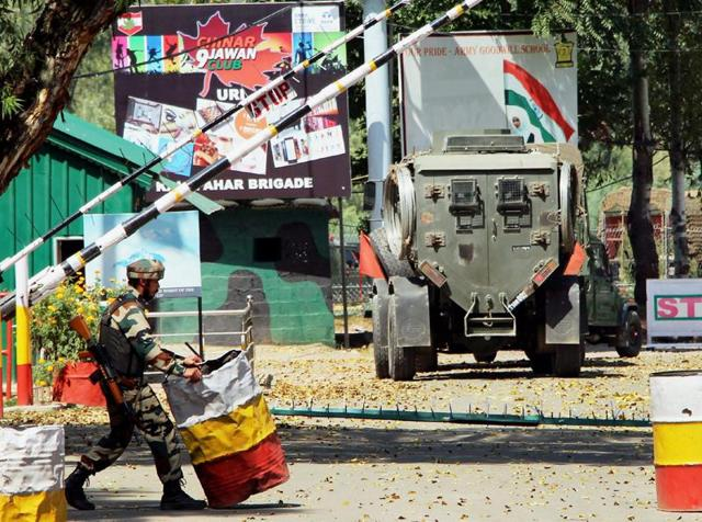 The army camp at Uri that was attacked on September 18. Militants struck again, this time in Kupwara district's Handwara town.(PTI)