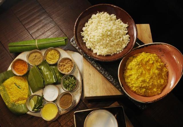 A lavish Bengali platter on display at Novotel  Kolkata Hotel and Residences.