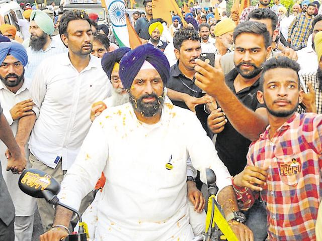 Commuters faced hardships in Patiala due to the Tiranga March organised by Youth Akali Dal on Wednesday.
