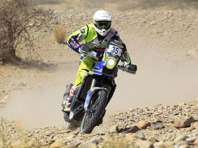 Aravind of Sherco-TVS Rally team, who consistently finished within the top-30 in all the legs, completed the rally in 26th position on Friday.
