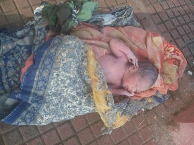 The baby girl (in picture) was born on a street of Warla tehsil in Barwani district on Wednesday.