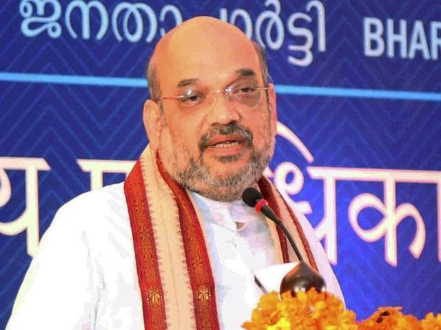 """BJP president Amit Shah lambasted political leaders, particularly Rahul Gandhi and Delhi chief minister Arvind Kejriwal, for """"playing politics"""" over the September 29 surgical strikes."""