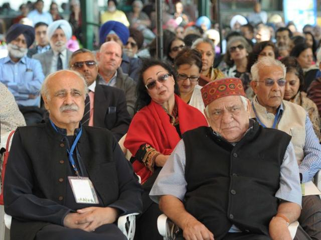 Bollywood actor Om Puri  among the audience during the Khushwant Singh Literary Festival that was held in 2015.