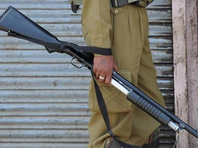 A policeman was killed when militants fired at a picket in a village at Shopian district of south Kashmir.