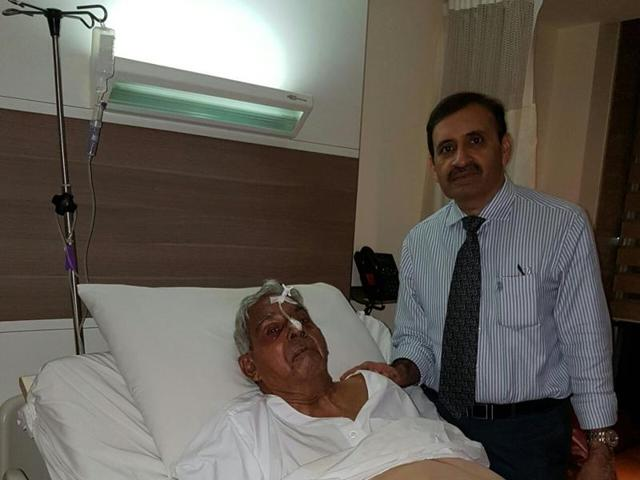 Navinchandra Shah, a retired businessman, had swallowed the four-inch-long denture during a visit to his dentist but did not realise it for over five days