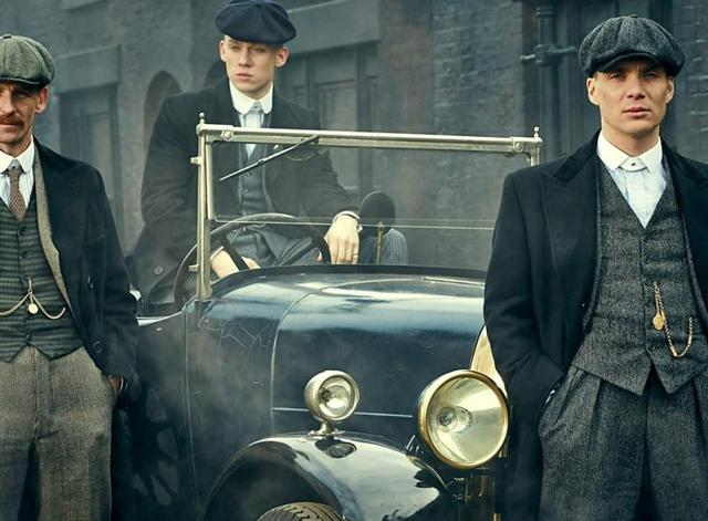 Characters from the show Peaky Blinders look fabulous in their suits.