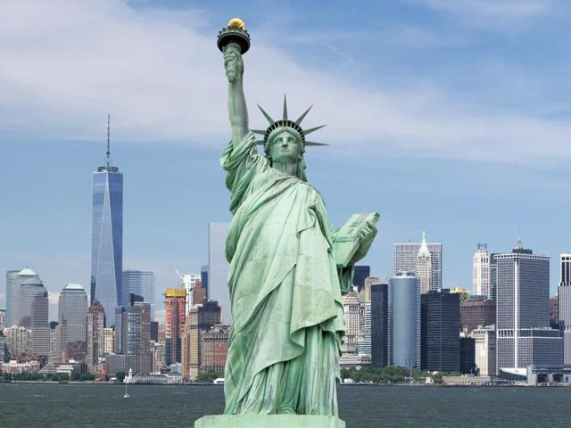 The Statue of Liberty was built by Gustave Eiffel and donated by France to the US on the 1876 centenary of the US independence.