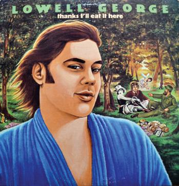 A creation of artist Neon Park, this cover of Lowell George's last album before he died, is bold, distinctive and laden with a sense of humour