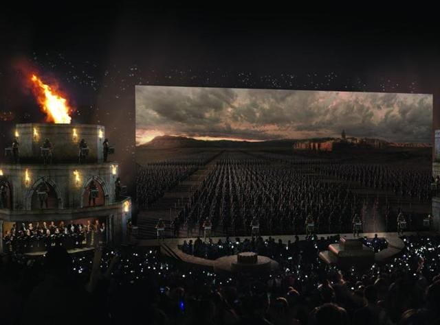 A still from the Game of Thrones Live Concert Experience.