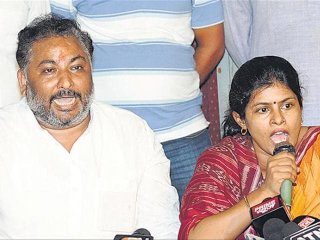 Dayashankar Singh and his wife Swati have been campaigning  to mobilise the Thakur community against the Bahujan Samaj Party.