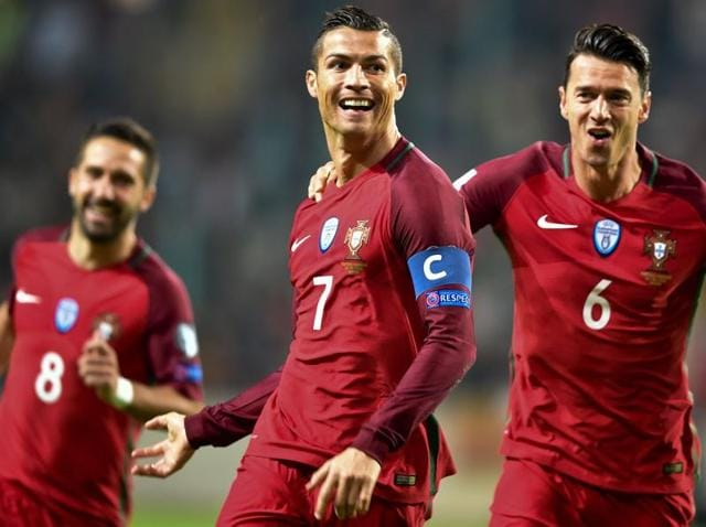 Ronaldo was making his first appearance for Portugal since being stretchered off injured and in tears during the Euro 2016 final.