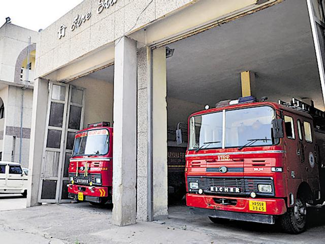 Fire department headquarters in Sector 29.