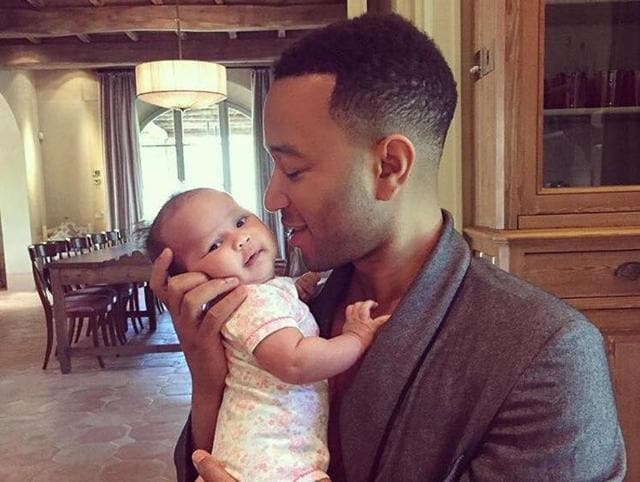 Singer John Legend says his priorities changed after  his daughter was born.
