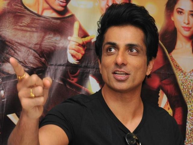 Actors Sonu Sood says he is glad to have opened a production house after his dad's name. (Shankar Mourya/ HT Photo)