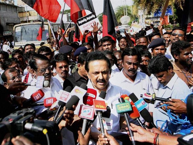 DMK party treasurer MK Stalin said his party would lead a delegation to Prime Minister Narendra Modi on the Cauvery issue if the AIADMK government did not take immediate steps for an all-party meeting.