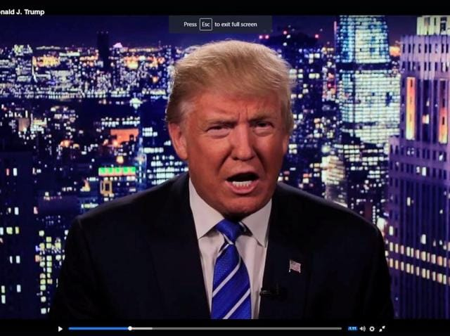 Republican US presidential nominee Donald Trump delivers a televised apology for his lewd comments on women.