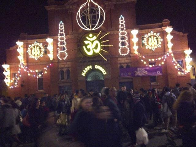 Britain's multiculturalism,Diwali celebrations,city of Leicester