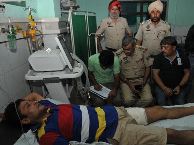 Road rage,BJP leader,shot at