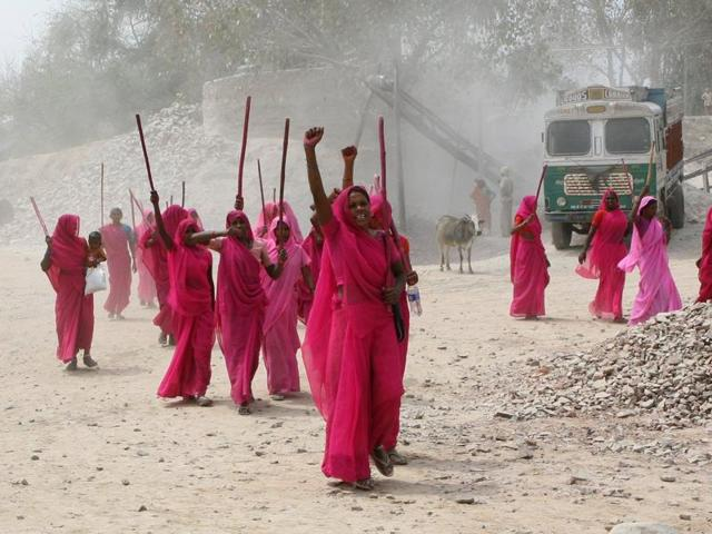 A still from the documentary Gulabi Gang, which will be screened at Peace Builders International Film Festival.