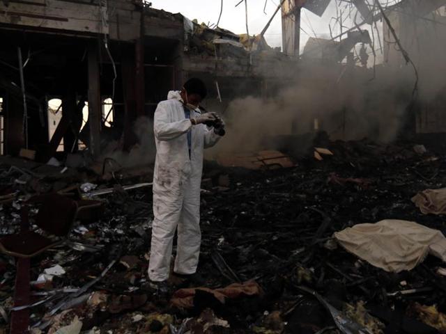 Sanaa,Air strike,Saudi-led coalition