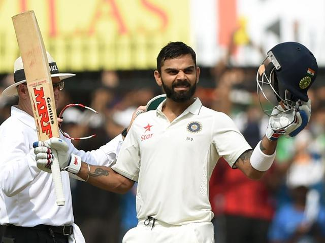 Kohli became the first Indian captain to score two double tons, doing so in the same year.