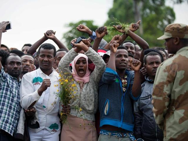 Ethiopia,Emergency declared,Anti-government protests