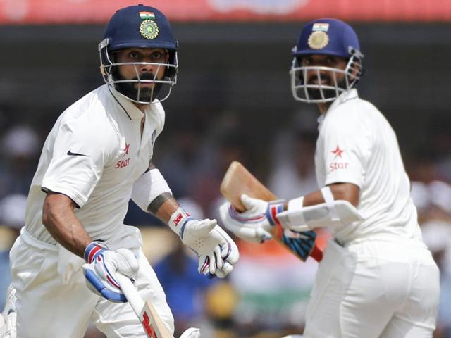 Rahane and Kohli's partnership of 365 is now India's highest for the fourth wicket.