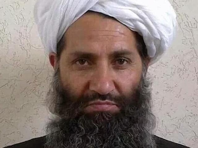 This undated handout photograph released by the Afghan Taliban on May 25, 2016 shows Mullah Haibatullah Akhundzada posing for a photograph at an undisclosed location.