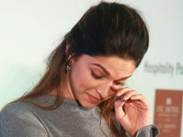 Deepika Padukone during the launch of 'Live Love Laugh',  a national awareness campaign on mental health, in New Delhi.