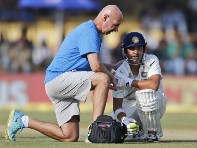 The 34-year-old Gautam Gambhir has struggled with his right shoulder over the course of his career.
