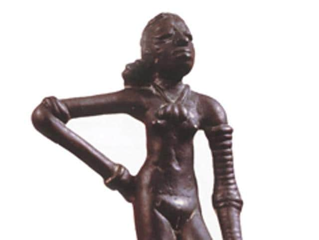 Though a small work of art, the tiny bronze statue, is suggestive of two major breakthroughs.