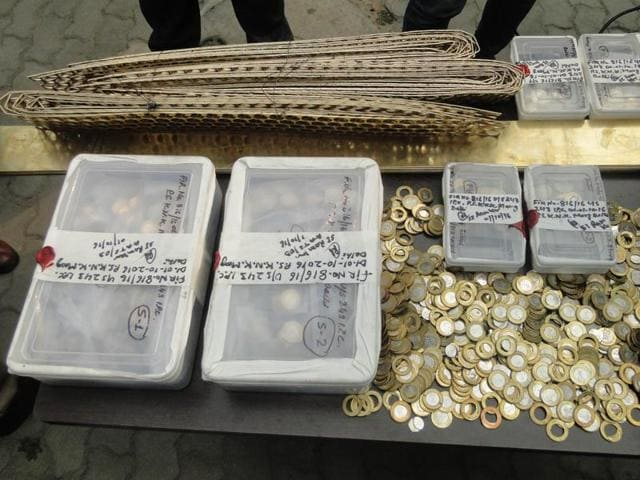 •Delhi Police busted two fake coin factories and arrested three members recently