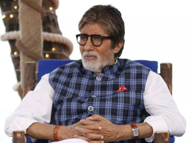 Actor Amitabh Bachchan during a cleanliness drive at Juhu Beach, in Mumbai.
