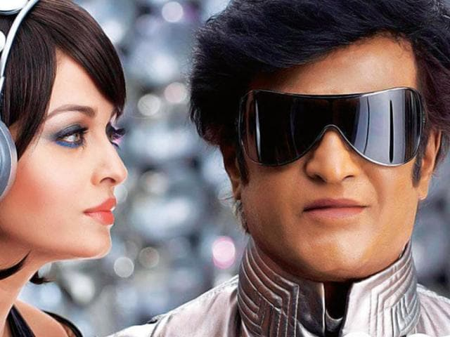 A science-fiction action Enthiran, co-written and directed by Shankar, featured Rajinikanth in double role, as a scientist and an andro humanoid robot, alongside Aishwarya Rai.
